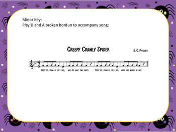 Creepy Crawly Spiders Song, Printouts for Composition Powerpoint
