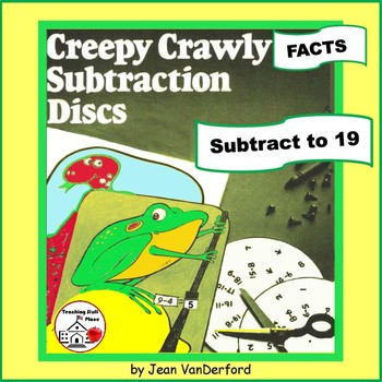 SUBTRACTION   Numbers to 19  Color Creepy   Subtraction Discs   MATH Gr 1-2 CORE