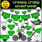 Creepy Crazy Underwear Clip Art