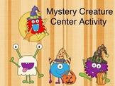 Creepy Creature Halloween Center Activity