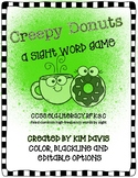 Creepy Donuts An Editable Sight Word Game Distance Learning