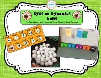Creepy Eyeball Activities Melody and Dynamics Match Games