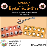 Creepy Eyeball Activities Melody and Dynamics Match Games