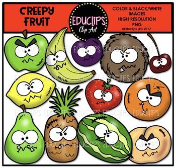 Creepy Fruit Clip Art Bundle {Educlips Clipart}