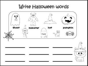 Literacy Halloween printables