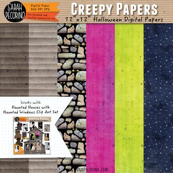 Creepy Halloween Digital Papers