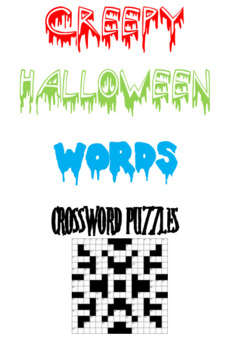Creepy Halloween Words Crossword Puzzles