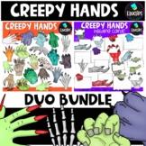 Creepy Hands Clip Art Duo Bundle {Educlips Clipart}