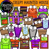 Creepy Haunted House: Halloween Clipart {Creative Clips Clipart}