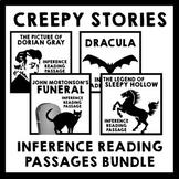 Creepy Stories Inference Reading Passage Bundle + Freebie