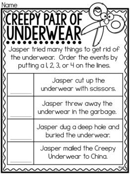 Creepy Pair of Underwear Book Study ~ by Aaron Reynolds