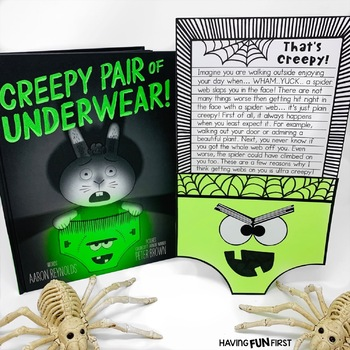 Creepy Pair of Underwear Guided Reading Character Analysis Activities