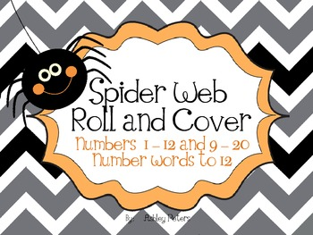 Creepy Spider Web Number Roll & Cover