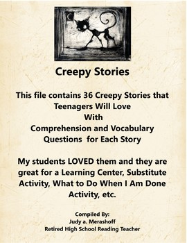 Creepy Stories that Teenagers Will Love Comprehension Questions Fun and Engaging