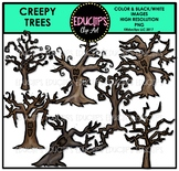 Creepy Trees Clip Art Bundle {Educlips Clipart}
