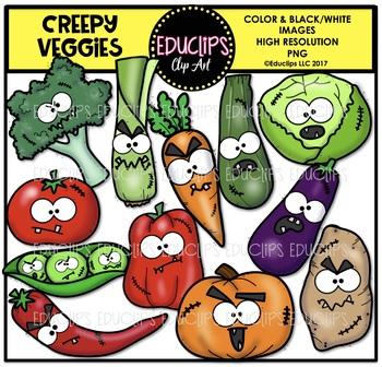 Creepy Veggies Clip Art Bundle {Educlips Clipart}