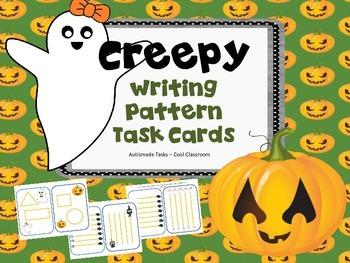 Creepy Writing pattern task cards - KINDERGARTEN