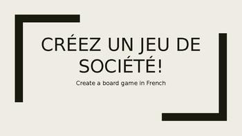 Créez un jeu de société!