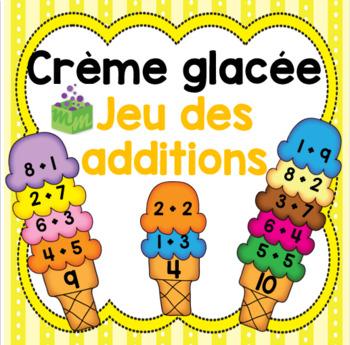 Crème glacée- été- fin de l'année- jeu des additions