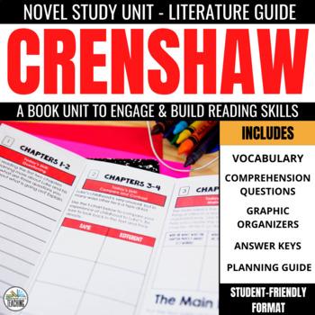 Crenshaw Foldable Novel Study Unit
