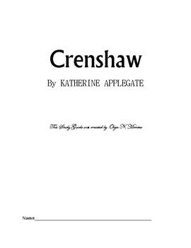 Crenshaw By KATHERINE APPLEGATE, Novel Study Guide