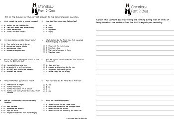 Crenshaw Comprehension and Assessment Bundle