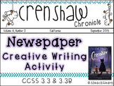 Crenshaw - Novel Study - Creative Writing Activity & Reading Comprehension