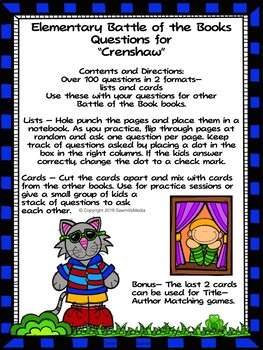 Crenshaw  - EBOB  Questions