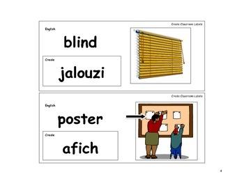 Creole Language Classroom Labels
