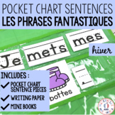 Phrases fantastiques! - Hiver (FRENCH Winter Pocket Chart