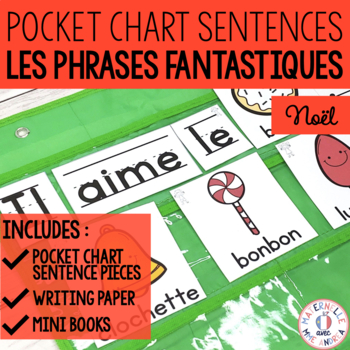 Phrases fantastiques! - Noël (FRENCH Christmas Pocket Chart Sentences)