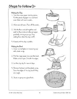 Crepe Paper Clay Bowl