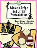 Crêpes Printable Play Food Props Set of 15