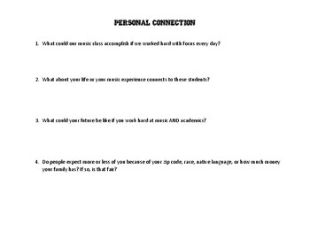 Crescendo! The Power of Music Documentary Worksheet