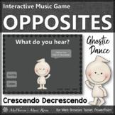 Fall Music Game ~ Dynamics Crescendo Decrescendo Interactive Music Game Ghostie