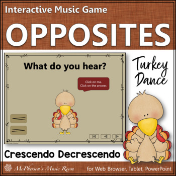 Thanksgiving Music Game Crescendo Decrescendo {Dynamics} Turkey Dance