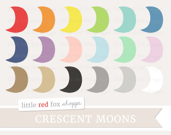 Crescent Moon Clipart; Weather, Shape