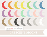 Crescent Moon Clipart; Space, Shape, Weather