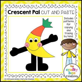 Crescent Pal Cut and Paste