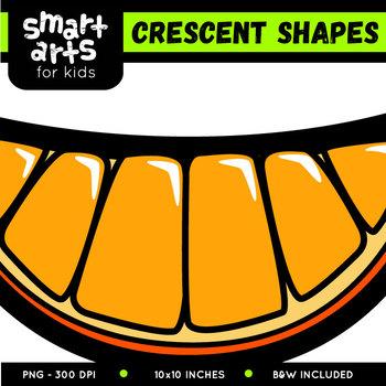 Crescent Shapes Clip Art