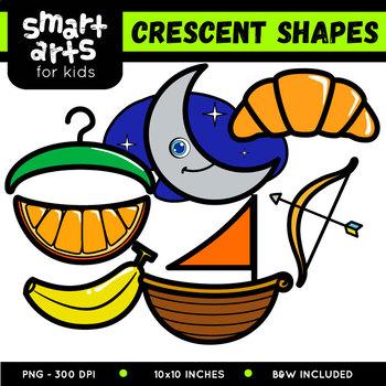 Crescent Shapes Clipart