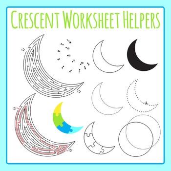 Crescent Worksheet Helper Clip Art for Commercial Use
