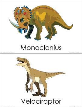 Cretaceous Dinosaurs BUNDLE (Set I, II, III) Picture Flashcards