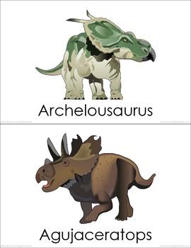 Cretaceous Dinosaurs (set I) Picture Flashcards