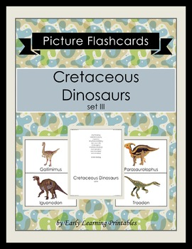 Cretaceous Dinosaurs (set III) Picture Flashcards