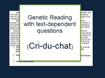 Genetics: Cri-du-chat reading and questions