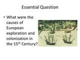 Cribbs - Age of European Exploration: Powerpoint, Graphic Organzer