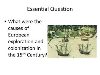 Cribbs - Age of European Exploration: Powerpoint, Graphic Organzer