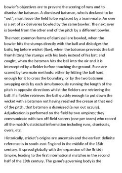 Cricket Handout