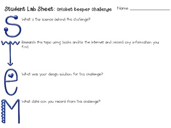 Cricket Keeper: Engineering Challenge Project ~ Great STEM Activity!